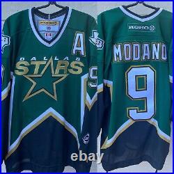 DALLAS STARS MIKE MODANO VINTAGE 90s ICE HOCKEY KOHO SEWN ON JERSEY SZ L