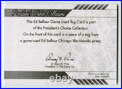 Ed Belfour 2010 ITG President's Choice Jumbo Jersey Patch 1/1 KCCP124