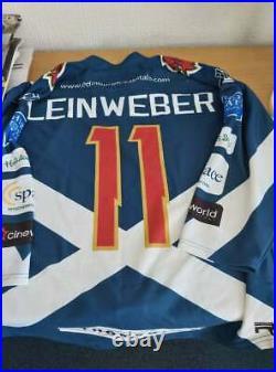 Edinburgh Capitals Game Worn Ice Hockey Jersey Curtis Leinweber