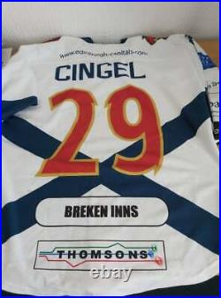 Edinburgh Capitals Game Worn Ice Hockey Jersey Martin Cingel