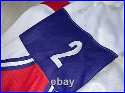 IIHF Norway Game Worn Ice Hockey Jersey Shirt Nike #2 Mattias Nørstebø A Patch