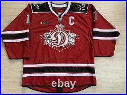 KHL Dinamo Dynamo Riga Game Worn Latvia Ice Hockey Jersey C Patch #10 DARZINS