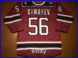 KHL Dinamo Dynamo Riga Game Worn Latvia Latvija Ice Hockey Jersey 56 GIMAYEV