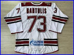 KHL Dinamo Dynamo Riga Game Worn Latvia Latvija Ice Hockey Jersey #73 BARTULIS