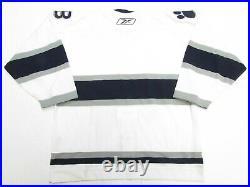 Long Beach Ice Dogs Authentic White Ahl Pro Reebok 6100 Hockey Jersey Size 54