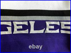 Los Angeles Kings Blank Starter NHL Hockey Authentic Center Ice Jersey Size 46