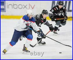 MHL HK RIGA Latvia Dinamo Game Worn LATVIJA Ice Hockey Jersey Shirt Size XL #84