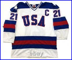 Mike Eruzione Team USA Hockey White Jersey 1980 Gold Medal Miracle On Ice