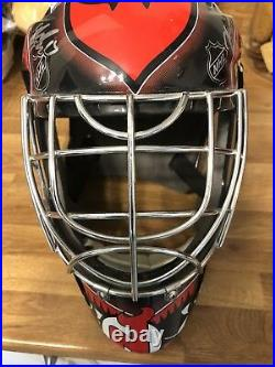New Jersey Devils 2008/9 Signed Replica Goalie Mask. Very Rare