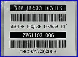 Pro stock CCM Quicklite hockey gloves 13 New Jersey Devils SR HGQL NHL Red