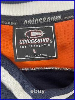 Rare Illinois Chief Illini Illiniwek Colosseum Sewn Hockey Jersey Adult Large L
