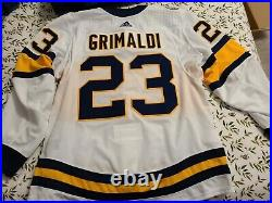 Rocco Grimaldi Game Used Winter Classic Jersey 1-1-2020