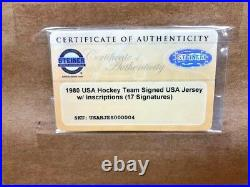 STEINER SPORTS 1980 USA Olympic Hockey Autographed Miracle on Ice Jersey