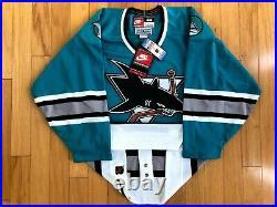 San Jose Sharks Blank Nike Brand New Hockey Authentic Center Ice Jersey Size 44