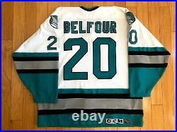 San Jose Sharks Ed Belfour CCM Sz. 52 Authentic Hockey Jersey Center Ice