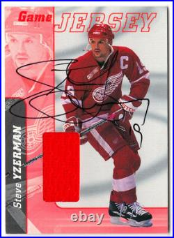 Steve Yzerman 2000/01 Be A Player Bap Itg In The Game Used Jersey Autograph /10