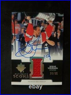 Steve Yzerman /35 2019-20 Ultimate Collection Ultimate Icons Jersey Autographs