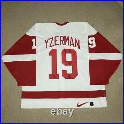 Steve Yzerman Detroit Red Wings Nike Center Ice Hockey Jersey New White 56 87-07