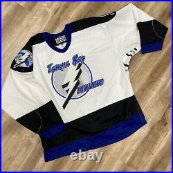 TAMPA BAY LIGHTNING CENTER ICE AUTHENTIC VINTAGE 90s CCM NHL HOCKEY JERSEY XXL