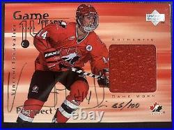 Vincent Lecavalier 1998-99 Upper Deck Game Jersey Auto SP 85/100! Canada! Rare