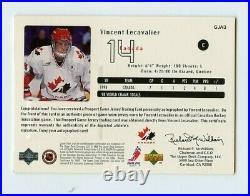 Vincent Lecavalier 1998-99 Upper Deck Game Jersey Autograph /100 Team Canada