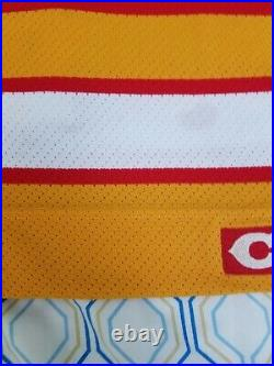 Vintage 90s CCM Center Ice Calgary Flames Hockey Jersey FIGHT STRAP Size 52