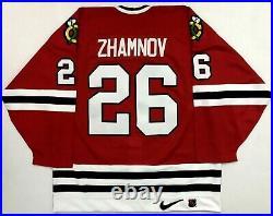 Vtg 1996-97 Alexei Zhamnov Chicago Blackhawk NIKE Center Ice Hockey Jersey 52