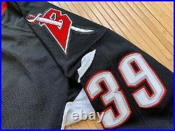 Vtg CCM Center Ice Buffalo Sabres #39 Hasek Authentic Hockey Goat Head Jersey 54
