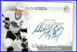 WAYNE GRETZKY 2013-14 SP Authentic Sign Of The Times AUTO SSP Los Angeles Kings