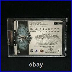 WAYNE GRETZKY KINGS 17 18 UD SPLENDOR GAME USED JERSEY AUTO AUTOGRAPH #d 12/36