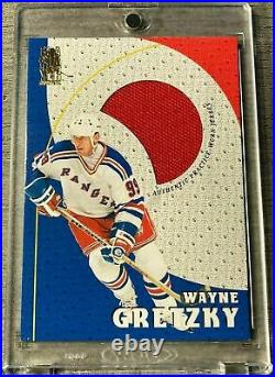 Wayne Gretzky 1998 be a player game worn jersey patch super