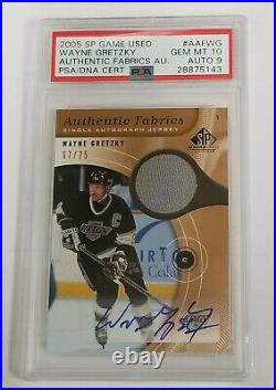 Wayne Gretzky 2005-06 SP Authentic jersey patch auto autograph 67/75 PSA 10