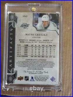 Wayne Gretzky 2019-20 Artifacts Hockey Auto Jersey Stick Card Emerald #06/10
