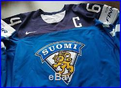 World Championship Team Finland NIKE Pro Stock Hockey Game Jersey